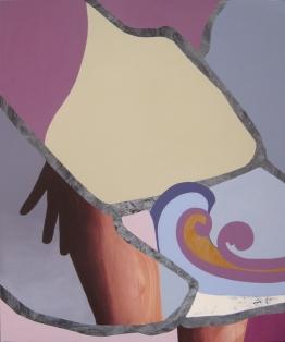 """Begonia, acrylic on panel, 40"""" x 48"""""""