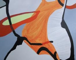 """Boomerang, acrylic on panel, 60"""" x 48"""""""