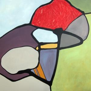 Clara, acrylic on panel, 48
