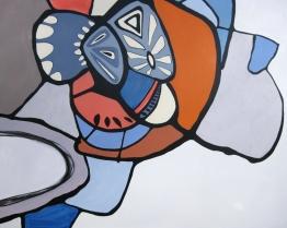 """Cowabunga, acrylic on panel, 60"""" x 48"""""""