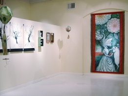 Installation, painting on right by Julie Maren
