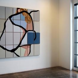"Installation of Taylor Figueroa, acrylic on 24 panels, 72"" x 80"""