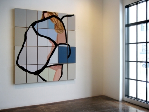 "Installation of Taylor Figueroa, acrylic on 24 panels, 72"" x 80"""