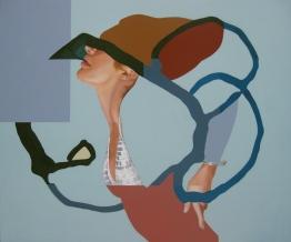 "Trouble Maker, acrylic on panel, 40"" x 48"""