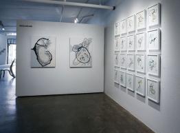 "Walker Fine Art, ""Topiaries"" Installation, 2015, Photo courtesy of Sabin Aell"