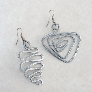 "Archetype Earrings $35 Steel approx. 1.5""w x 2""L"