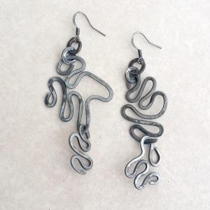 """Ramen Earrings $50 Steel approx. 1.25""""w x 2.25""""L"""