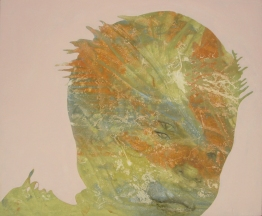 """Astigmatism,"" 24"" x 29.5"", alkyd on canvas over wood panel, 2006"