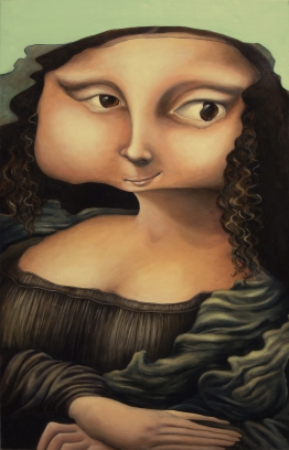 """Mamacita,"" 23"" x 36"". acrylic on wood panel, 2005"