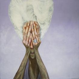 """Transition,"" 48"" x 48"", acrylic on canvas, 2004"